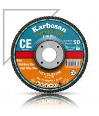 Lamellás csiszoló kerámia szemcsés 115 Karbosan