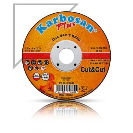 Vágókorong fémre INOX Plus 115x1,0 Karbosan