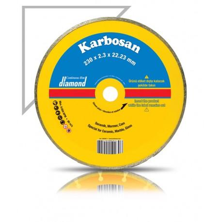Gyémántvágótárcsa csempe 230 x5,5x2,2x22 Karbosan