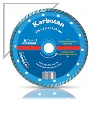 Gyémántvágótárcsa turbo 125 x7x2,15x22, Karbosan