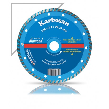 Gyémántvágótárcsa turbo 180 x8x2,2x22 Karbosan