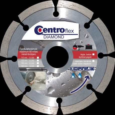 Gyémántvágótárcsa beton 115 x7x22,23 Centroflex