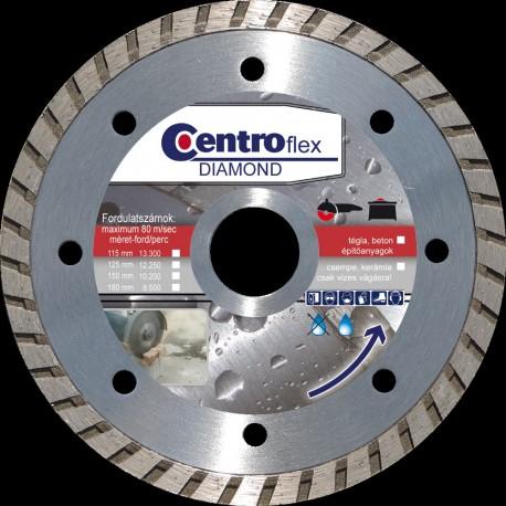 Gyémántvágótárcsa turbo 125 x7x22,23 Centroflex