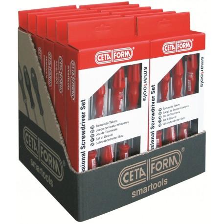 Csavarhúzó klt C-Plus bemutató Box 12 készlet Ceta Form