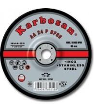 Tisztítókorong Inox 115x 6,4 Karbosan