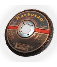 Lamellás csiszoló inoxra JUMBO 115 Karbosan