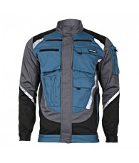 Munkavédelmi kabát fekete-szürke-türkiz Lahti