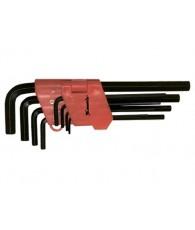 Imbuszkulcs készlet 9r. hosszú 1,5-10mm MTX