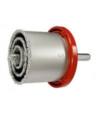 Körkivágó készlet, wolfram karbid bev., 33-53-67-73-83 mm, hatszögű szárral MTX