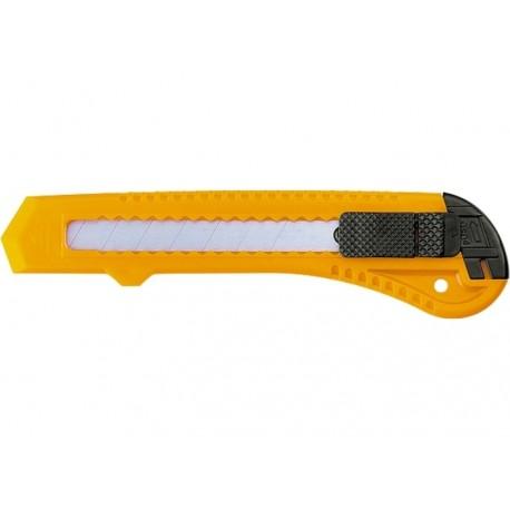 Kés 18mm,műanyag markolattal, kitolható penge Sparta