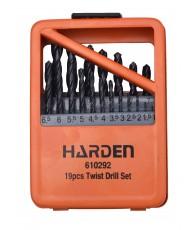 Csigafúró készlet 19r. 1-10 mm HSS-G FÉM dobozban Harden