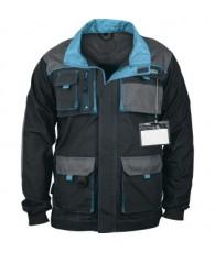 Munkavédelmi kabát fekete-türkiz XL/50-52 Gross